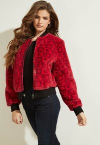 Guess - Bomber Jacket - rot/merf. - 0