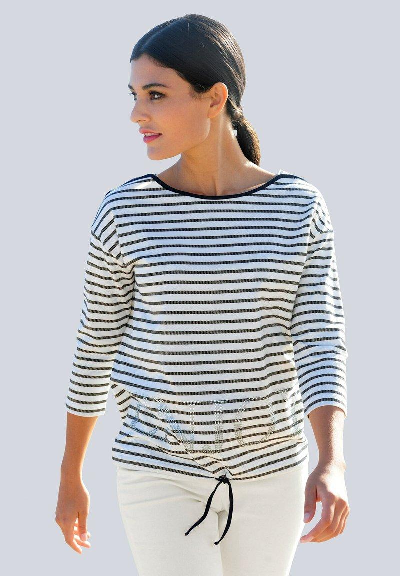 Alba Moda - Long sleeved top - marineblau weiß