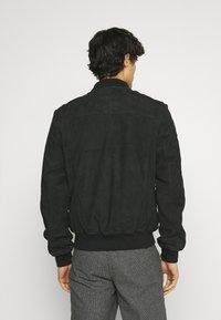 Schott - Leather jacket - navy - 2
