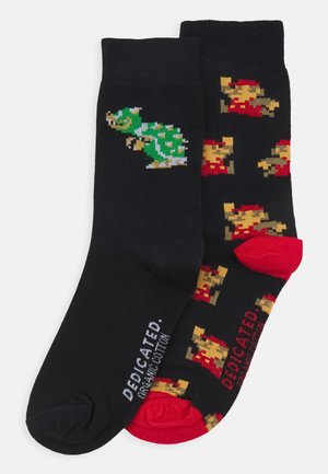 SOCKS SIGTUNA SUPER MARIO PATTERN AND BOWSER UNISEX 2 PACK - Calcetines - black