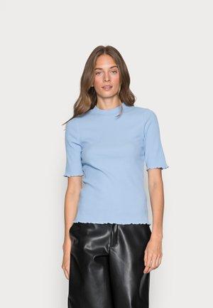 SLFANNA CREW NECK TEE - Jednoduché triko - brunnera blue