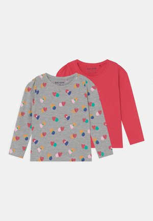 COLOR YOUR LIFE - Long sleeved top - pink/mottled grey