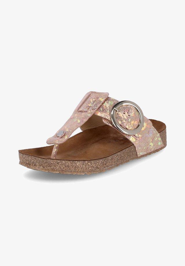 ZEHENTRENNER CORINNA - T-bar sandals - rosa