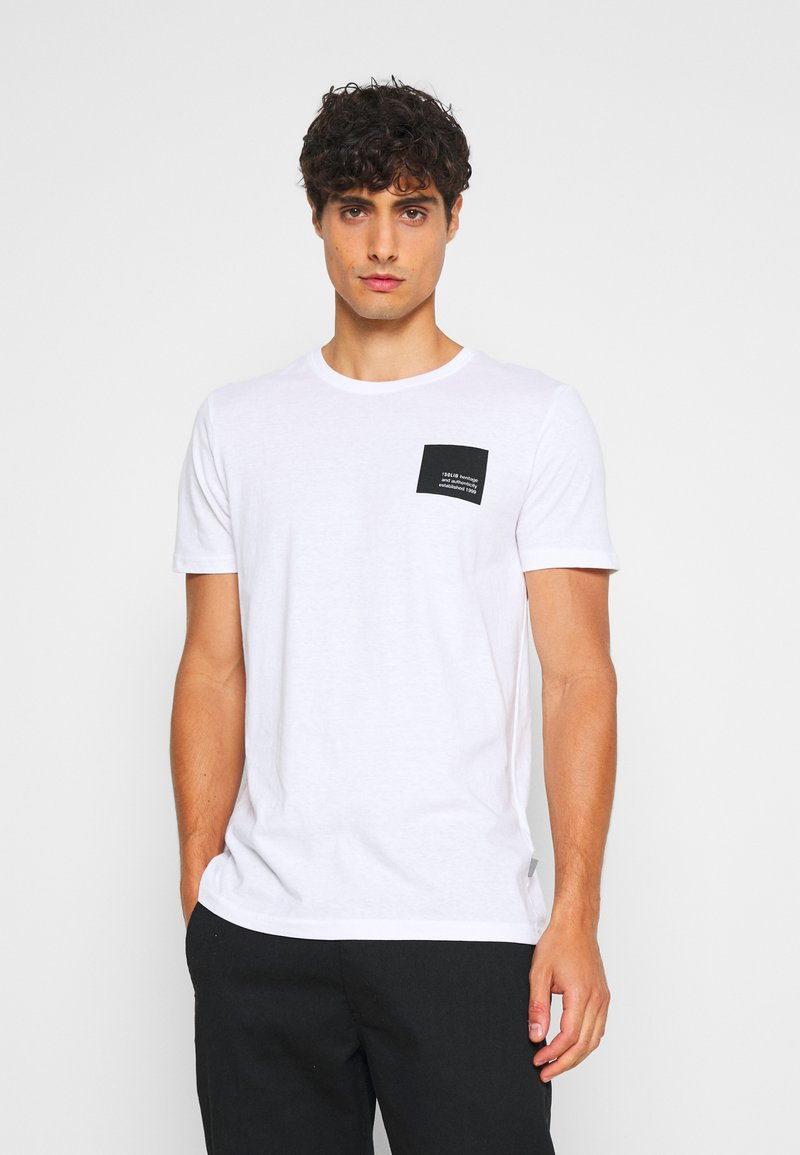 Solid - DAVE - Print T-shirt - white