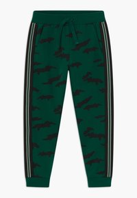 Lindex - MINI TROUSERS STREET PANEL - Tracksuit bottoms - dark green - 0
