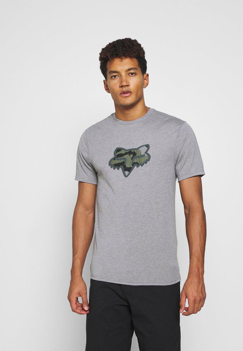 Fox Racing - PREDATOR TECH TEE - Print T-shirt - heather graph