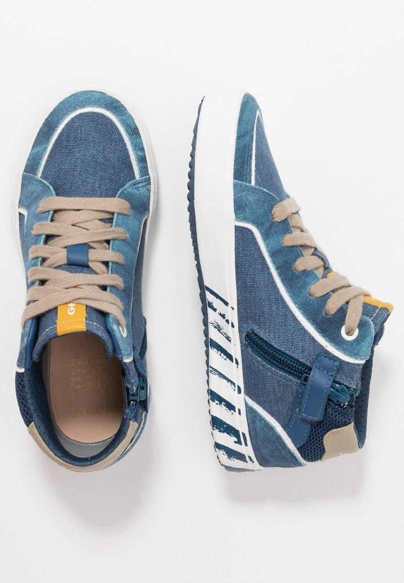Geox - ALONISSO BOY - Zapatillas altas - avio/beige