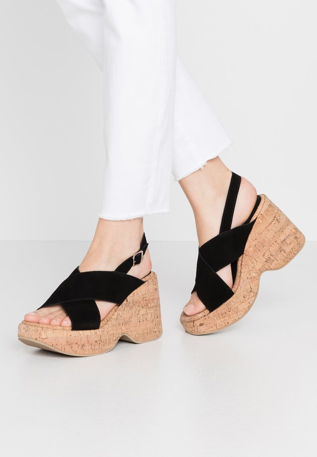 NOISE - Sandały na obcasie - black