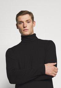 Solid - TED ROLLNECK - Long sleeved top - black - 4