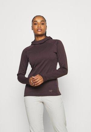 MOTUS HOODY WOMENS - Long sleeved top - figment heather