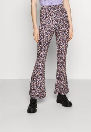 VICOSMO FESTIVAL PANTS - Broek - black/pink/purple