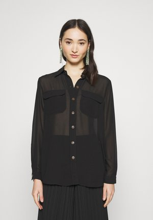OBJCAMISA - Button-down blouse - black