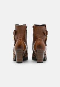 Gabor Comfort - Platform ankle boots - cognac - 3