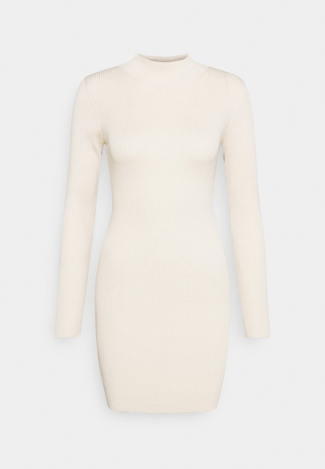 HIGH NECK MINI DRESS - Vestido de tubo - sand