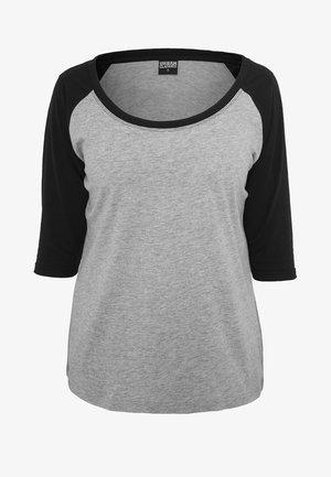 T-shirt z nadrukiem - grey/black