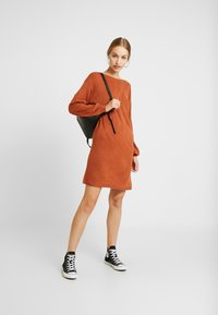 ONLY - ONLJESSIE BOATNECK DRESS - Jumper dress - ginger bread - 2
