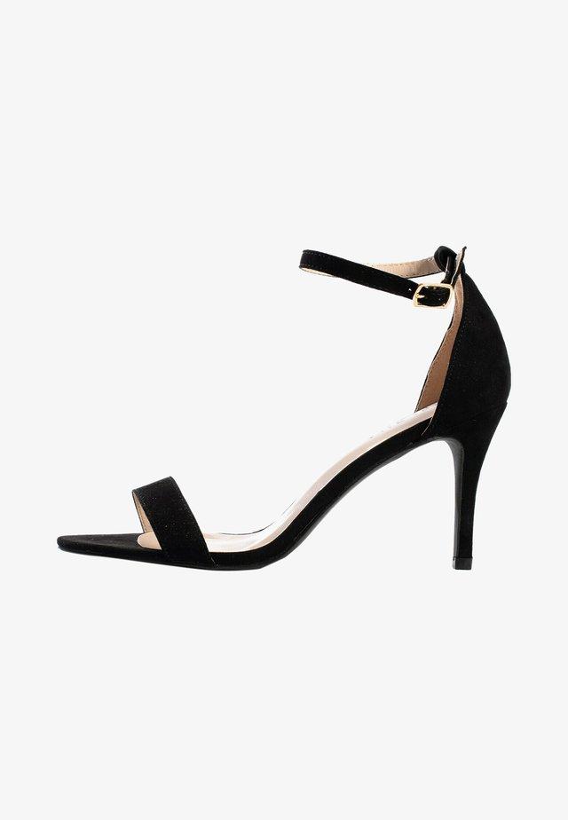 Sandalen met hoge hak - black melange