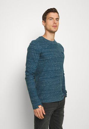 Long sleeved top - deep teal space dye