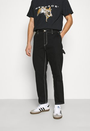 HIGHWATER WORK - Trousers - flint black