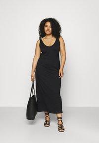 ONLY Carmakoma - CARAPRIL LIFE V-NECK DRESS - Jersey dress - black - 1