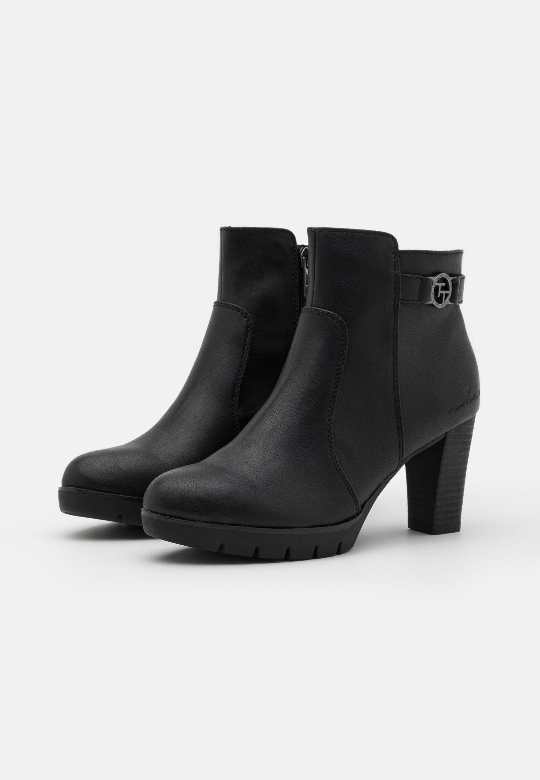 TOM TAILOR Ankle Boot black/schwarz