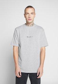 Mennace - ESSENTIAL SIGNATURE TEE 2 PACK - Basic T-shirt - teal/grey marl - 2
