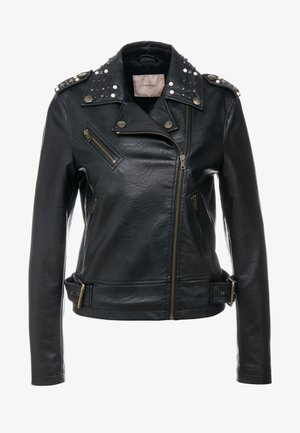 JACKET WITH STUDS DETAIL - Veste en similicuir - nero