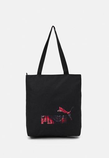 FLORAL LOGO SHOPPER - Shoppingveske - black