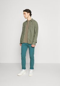 AllSaints - MUSICA CREW - Basic T-shirt - willow taupe - 1