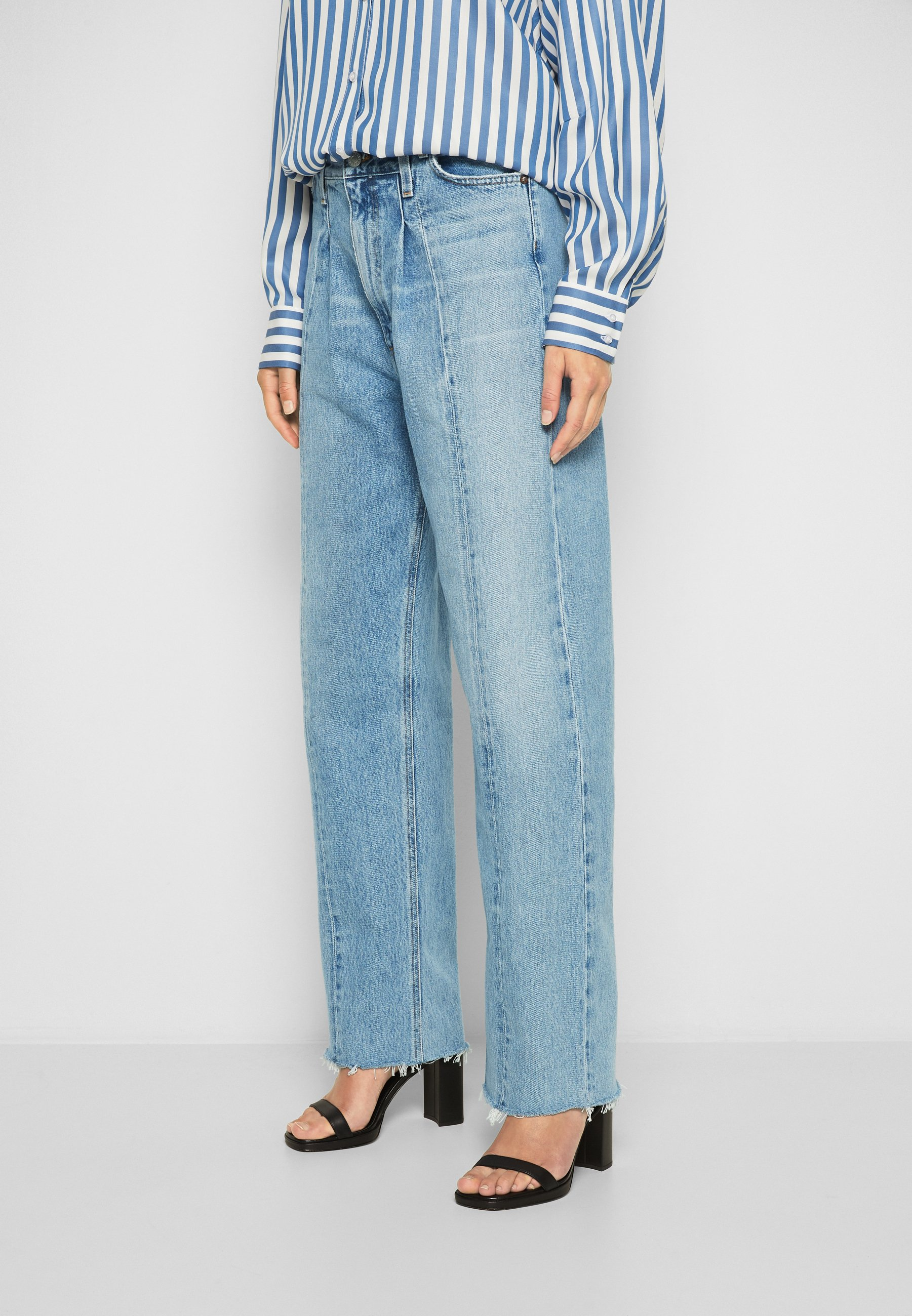 Women PIECED ANGLED - Straight leg jeans