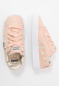 Puma - BASKET - Trainers - pink sand/tapioca - 0