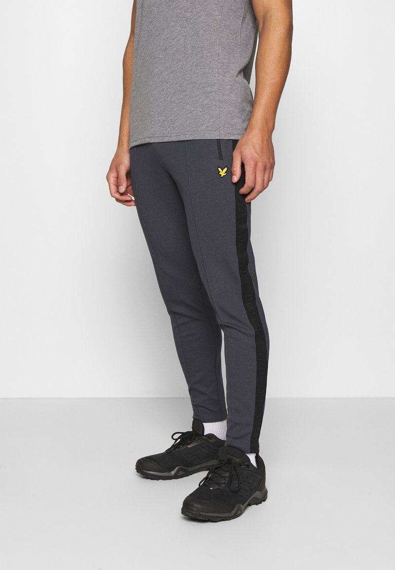 Lyle & Scott - SIDE TAPE TRACKIES - Tracksuit bottoms - observer grey