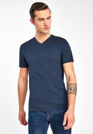 V-NECK T-SHIRT-SLIM FIT - Basic T-shirt - blue