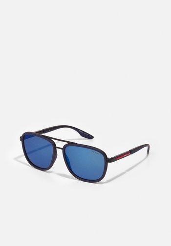 Sunglasses - matte black/blue