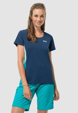 Print T-shirt - dark indigo  powder blue