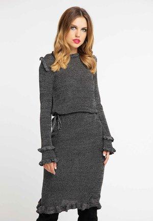 Jumper dress - black/silver