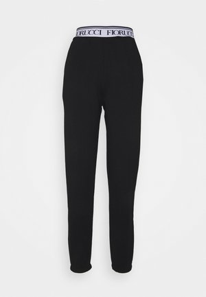 WAISTBAND LOGO JOGGER - Tracksuit bottoms - black