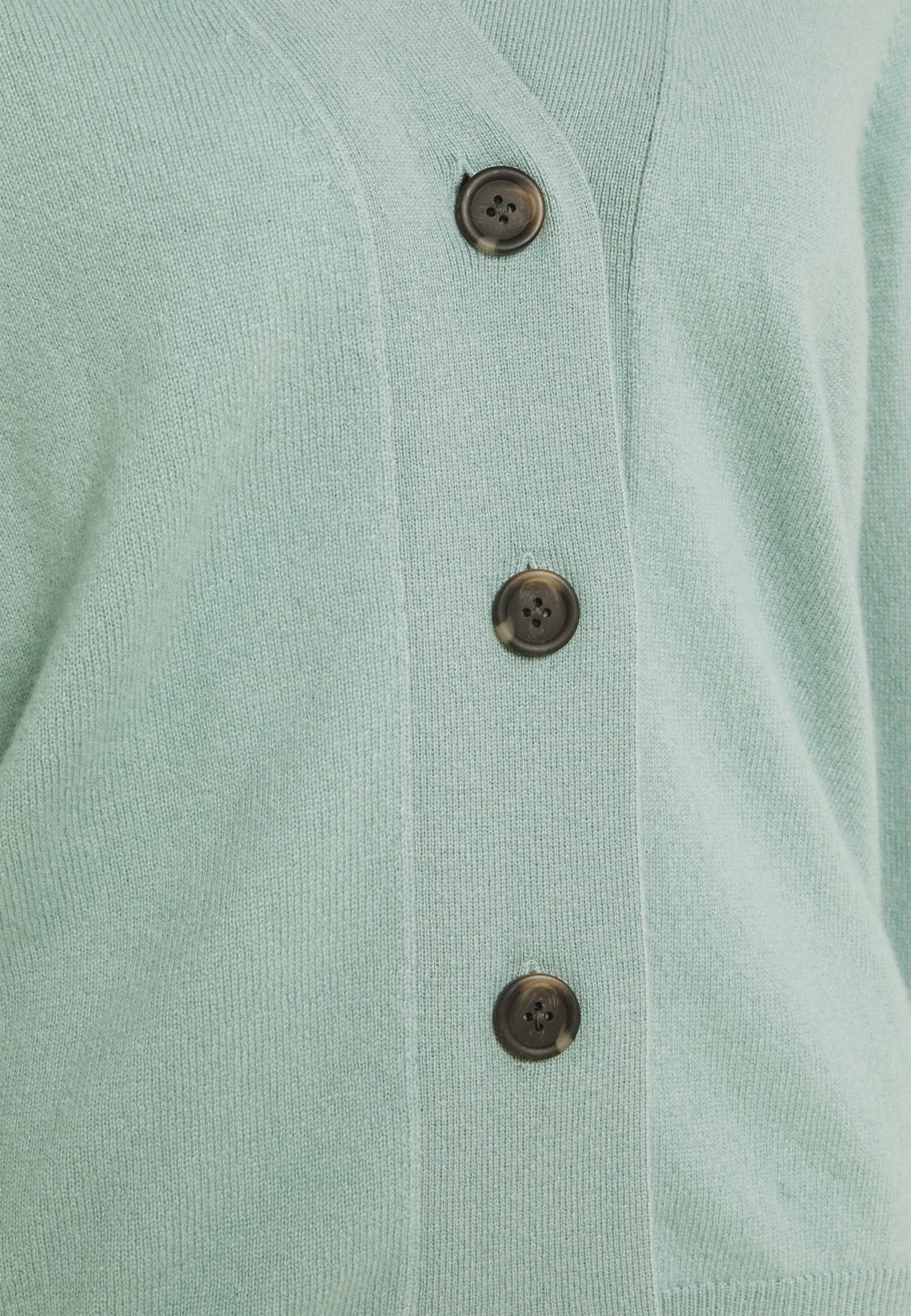 Online Cheapest Women's Clothing Davida Cashmere V NECK BUTTONS  Cardigan dusty green Nymb2GKoe