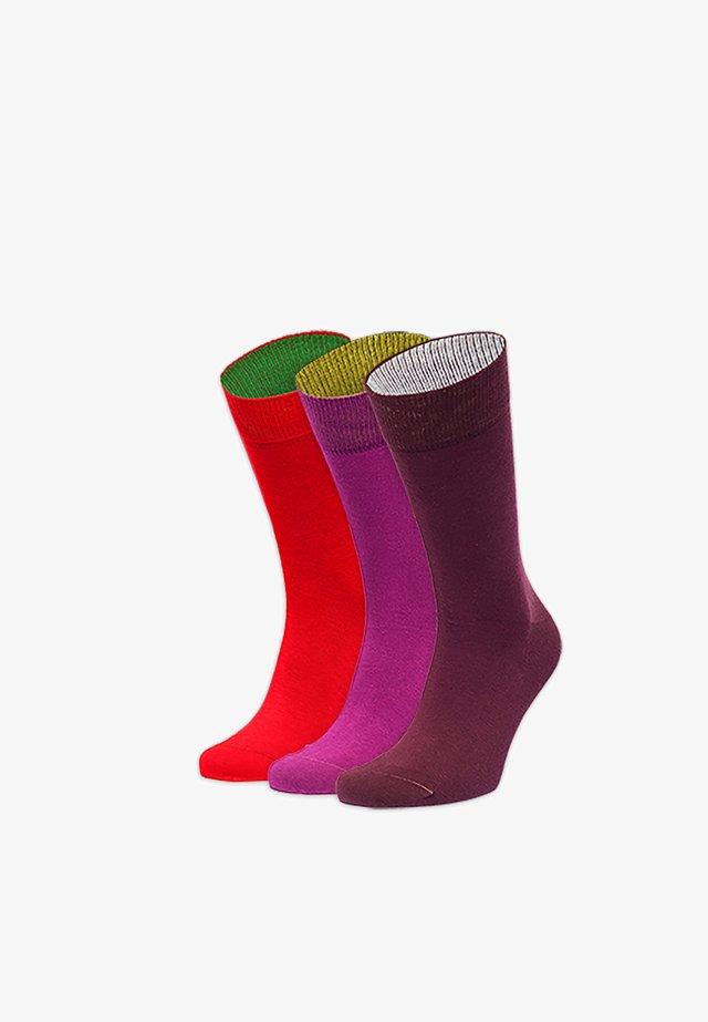 CHAKRA 3 PACK - Socks - rot,lila