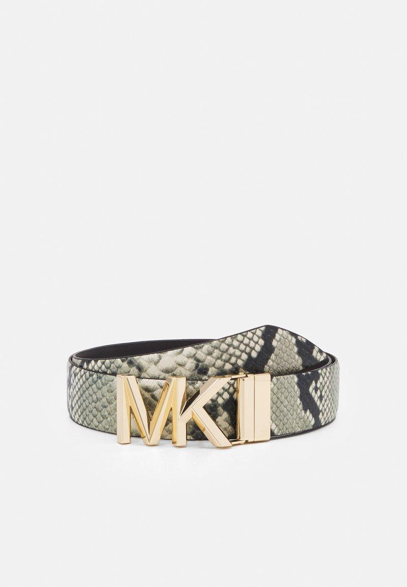 MICHAEL Michael Kors - REVERSIBLE BELT - Cinturón - natural/chocolate/gold-coloured