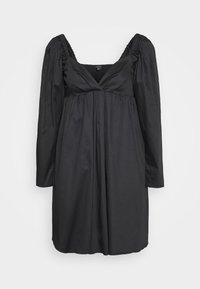 THE DRAMATIC SLEEVE MINI DRESS - Denní šaty - black