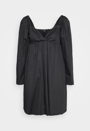 THE DRAMATIC SLEEVE MINI DRESS - Vapaa-ajan mekko - black