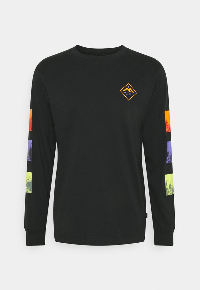 MOUNTAIN CLUB TRYPTIC GRAPHIC LONG SLEEVE - Long sleeved top - black