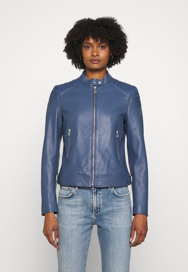 NEW MOLLISON JACKET - Leren jas - racing blue