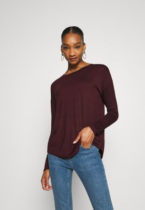 LUXE - Long sleeved top - pinot noir