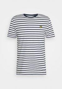 Lyle & Scott - BRETON STRIPE - T-shirt med print - navy/white - 4