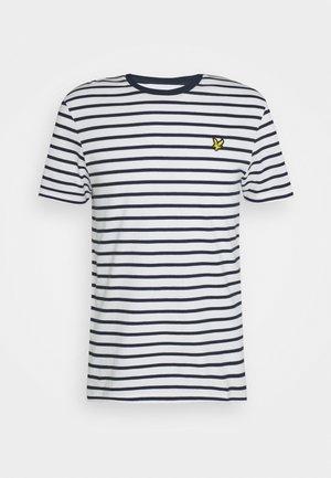 BRETON STRIPE - T-shirt med print - navy/white