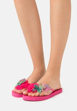 WITH FLOWER MIX - Teenslippers - fuchsia