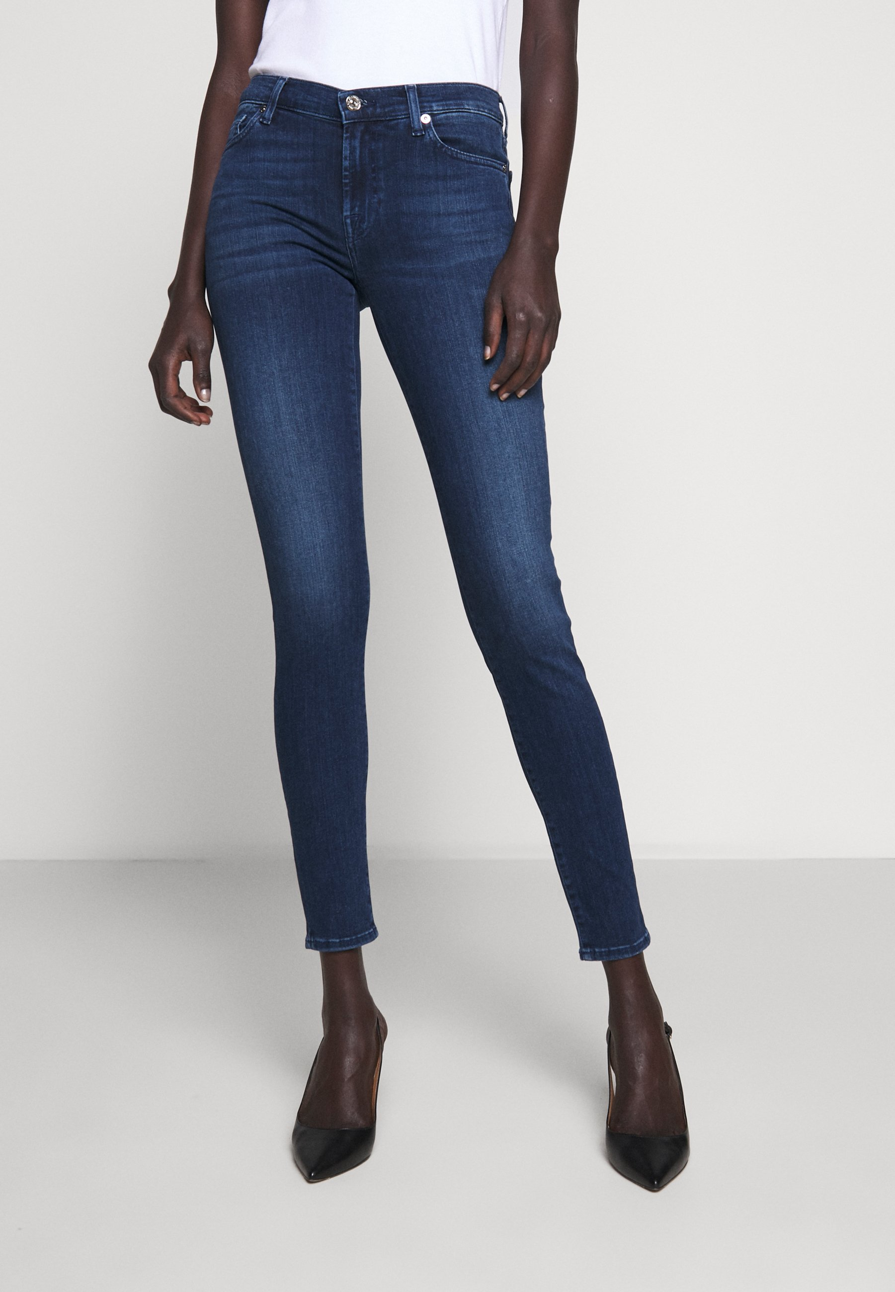 7 for all mankind Jeans Skinny - dark blue - Jeans Femme zZi97