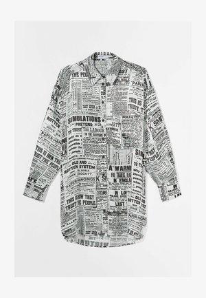 MIT PRINT - Button-down blouse - dark grey